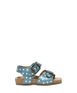 Pèpè | Polka Dot Printed Patent Leather Sandals