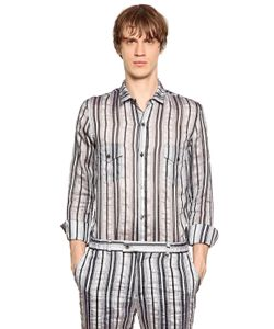 PERDRE HALEINE | Striped Cotton Blend Taffeta Shirt