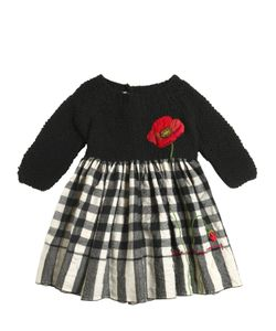 Péro | Embroidered Tricot Wool Flannel Dress