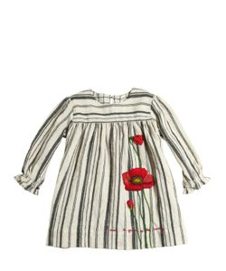 Péro | Embroidered Wool Flannel Dress