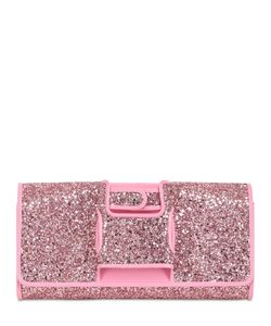 PERRIN PARIS | Glitter Glove-Inspired Leather Clutch
