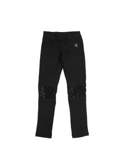PHILIPP PLEIN JUNIOR | Embellished Cotton Jersey Leggings