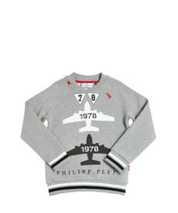 PHILIPP PLEIN JUNIOR | Air Force Print Cotton Fleece
