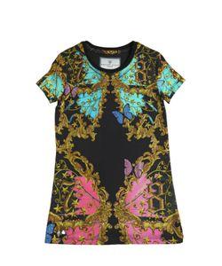 PHILIPP PLEIN JUNIOR | Embellished Cotton Jersey Dress