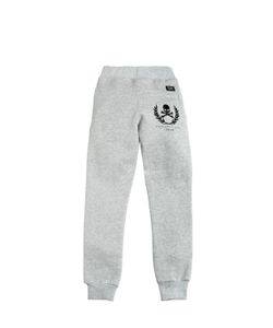 PHILIPP PLEIN JUNIOR | Embellished Logo Cotton Jogging Pants
