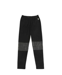 PHILIPP PLEIN JUNIOR | Embellished Stretch Faux Suede Leggings