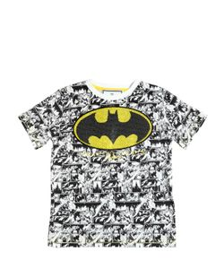 PHILIPP PLEIN JUNIOR | Embellished Batman Cotton Jersey T-Shirt