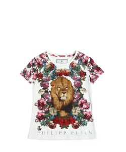 PHILIPP PLEIN JUNIOR | Embellished Lion Cotton Jersey T-Shirt