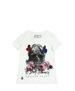 PHILIPP PLEIN JUNIOR | Embellished Skull Cotton Jersey T-Shirt