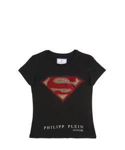 PHILIPP PLEIN JUNIOR | Superman Cotton Jersey T-Shirt