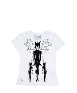 PHILIPP PLEIN JUNIOR | Catwoman Printed Cotton Jersey T-Shirt