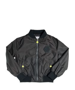 PHILIPP PLEIN JUNIOR | Plein 78 Patches Nylon Bomber Jacket