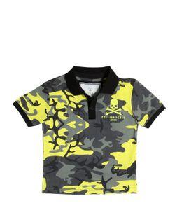 PHILIPP PLEIN JUNIOR | Camouflage Printed Cotton Piqué Polo