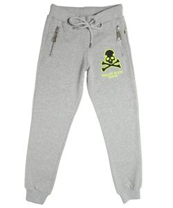 PHILIPP PLEIN JUNIOR | Skull Embroidered Cotton Jogging Pants
