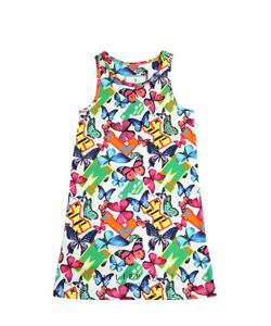 PHILIPP PLEIN JUNIOR | Butterfly Printed Cotton Jersey Dress