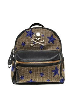 PHILIPP PLEIN JUNIOR | Embellished Faux Leather Backpack