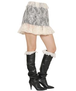 Philosophy di Lorenzo Serafini | Lace Skirt Shorts W/ Contrast Lining