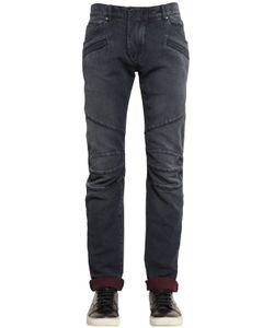 Pierre Balmain | 16.5cm Biker Cotton Denim Jeans