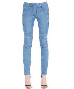 Pierre Balmain | Quilted Stretch Cotton Denim Jeans