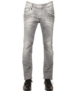 Pierre Balmain | 15.5cm Faded Effect Stretch Denim Jeans