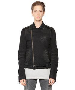 Pierre Balmain | Stretch Cotton Denim Moto Jacket