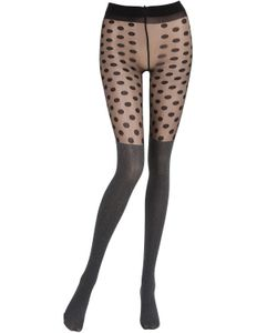 Pierre Mantoux | Herringbone Polka Dot Tights