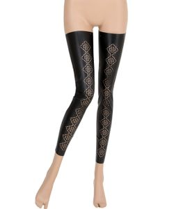 Pierre Mantoux | Footless Faux Leather Thigh Highs
