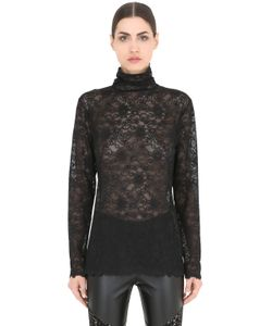Pierre Mantoux | Lace Turtleneck Top