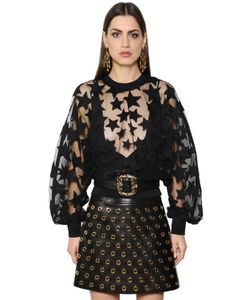 Elie Saab | Stars Embroide Sheer Tulle Top