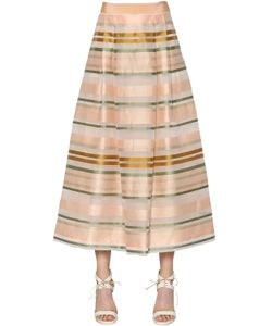 MAX MARA SHINE! | Striped Organza Midi Skirt