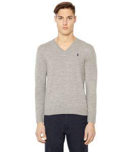 Polo Ralph Lauren | Logo V Neck Stretch Merino Sweater