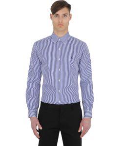 Polo Ralph Lauren   Slim Fit Striped Cotton Poplin Shirt