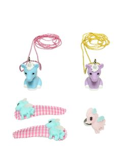 POP CUTIE | Pony Ring Necklaces Hairclips Set