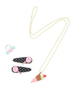 POP CUTIE | Sweets Ring Necklace Hairclip Set