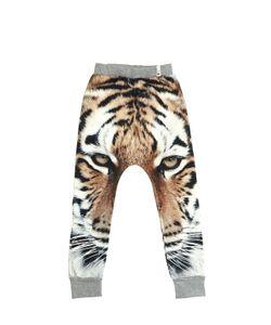 Popupshop   Tiger Printed Cotton Jogging Pants