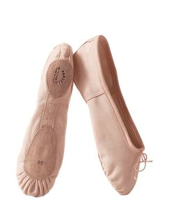 PORSELLI | Split-Sole Cotton Canvas Ballet Flats
