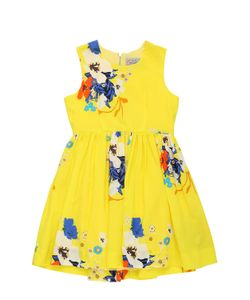 PREEN MINI | Floral Printed Viscose Ottoman Dress
