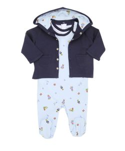 RALPH LAUREN CHILDRENSWEAR | Printed Cotton Romper Bodysuit Jacket