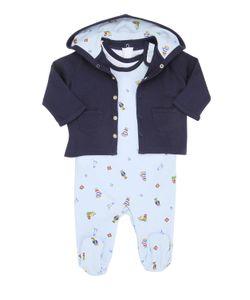 RALPH LAUREN CHILDRENSWEAR | Printed Cotton Romper Bodysuit Jacket