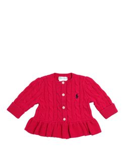 RALPH LAUREN CHILDRENSWEAR | Cable Tricot Knit Cotton Cardigan