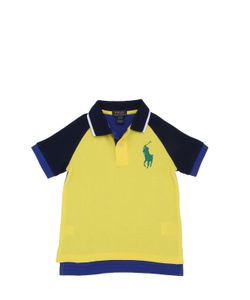 RALPH LAUREN CHILDRENSWEAR | Color Block Cotton Piqué Polo Shirt