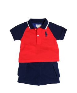 RALPH LAUREN CHILDRENSWEAR | Cotton Piqué Polo Shirt Shorts