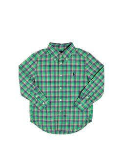 RALPH LAUREN CHILDRENSWEAR | Plaid Cotton Poplin Button Down Shirt