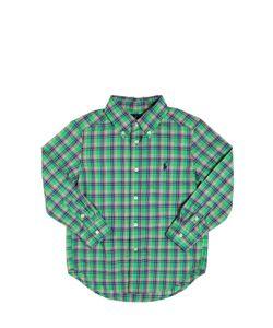 RALPH LAUREN CHILDRENSWEAR | Plaid Cotton Poplin Button Down Shirt