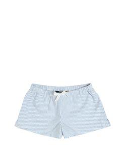 RALPH LAUREN CHILDRENSWEAR | Striped Cotton Oxford Shorts