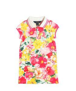 RALPH LAUREN CHILDRENSWEAR | Floral Cotton Piqué Polo Shirt Dress