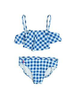 RALPH LAUREN CHILDRENSWEAR | Gingham Printed Nylon Bikini