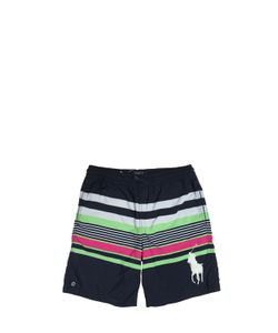 RALPH LAUREN CHILDRENSWEAR | Stripe Print Nylon Swim Shorts