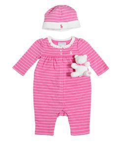 RALPH LAUREN CHILDRENSWEAR | Cotton Jersey Romper Hat Toy