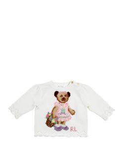 RALPH LAUREN CHILDRENSWEAR | Bear Intarsia Combed Cotton Sweater